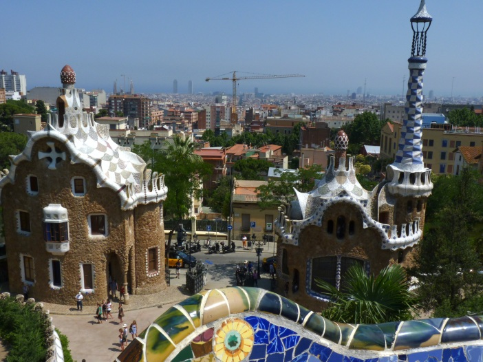 Gaudi work Parque Guell, Barcelona